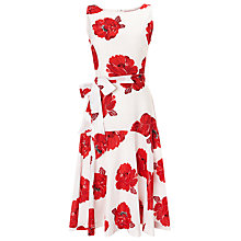 Buy Phase Eight Iona Flare Dress, Red / White Online at johnlewis.com