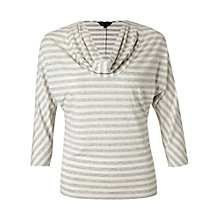 Buy Phase Eight Carrie Striped Top, Pebble/Ivory Online at johnlewis.com