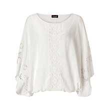 Buy Phase Eight Sadie Embroidered Blouse, White Online at johnlewis.com