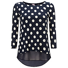 Buy Phase Eight Kelly Spot Top, Pitch Blue Online at johnlewis.com