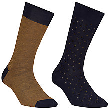 Buy John Lewis Stripe and Dot Egyptian Cotton Socks, Pack of 2 Online at johnlewis.com