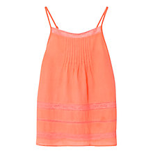 Buy Mango Kids Girls' Cotton Lace-Trim Top Online at johnlewis.com
