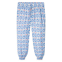 Buy Mango Kids Girls' Ethnic Print Flowy Trousers, Pastel Purple Online at johnlewis.com