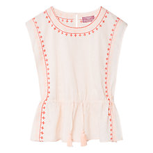 Buy Mango Kids Girls' Ethnic Plumeti Blouse, Pastel Pink Online at johnlewis.com