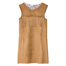Buy Mango Kids Girls' Faux Leather Dress, Medium Brown Online at johnlewis.com