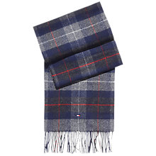 Buy Tommy Hilfiger Wool Checked Scarf, Silver Fog Heather Online at johnlewis.com