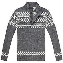 Buy Tommy Hilfiger Pando Button Jumper, Silver/White Online at johnlewis.com