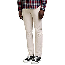 Buy Levi's California Slim Straight Jeans, White Online at johnlewis.com
