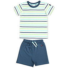 Buy Polarn O. Pyret Baby's Shortie Pyjamas, Blue/Multi Online at johnlewis.com