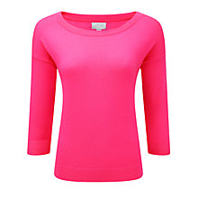 Buy Pure Collection Cashmere Boat Neck Sweater, Fluroescent Pink Online at johnlewis.com