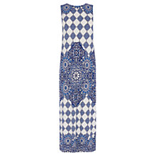 Buy Warehouse Tile Placement Print Dress, Blue Online at johnlewis.com