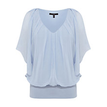 Buy Coast Vittoria Calla Top, Pale Blue Online at johnlewis.com