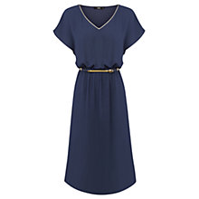 Buy Oasis Tropez Trim Midi Dress, Navy Online at johnlewis.com
