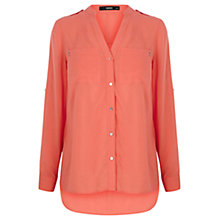 Buy Oasis Piped Shirt, Coral Online at johnlewis.com