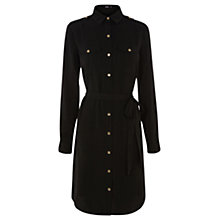 Buy Oasis Utility Shirt Dress, Black Online at johnlewis.com