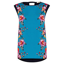 Buy Oasis Florantina Top, Blue Online at johnlewis.com