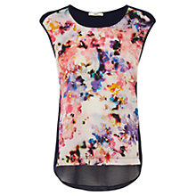Buy Oasis Watercolour Print Shell Top, Multi Online at johnlewis.com