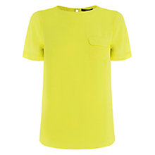 Buy Oasis Dip Back Pocket T-Shirt, Bright Yellow Online at johnlewis.com