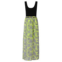 Buy Oasis Paisley V Front Maxi Dress, Apple/Black Online at johnlewis.com