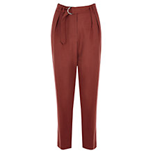 Buy Warehouse Soft Peg Cotton Trousers, Cayenne Online at johnlewis.com