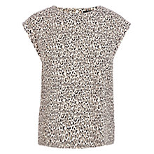 Buy Oasis Animal Print Trimmed T-Shirt, Multi Online at johnlewis.com