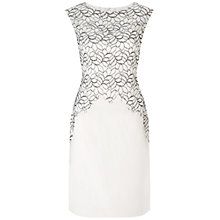 Buy Adrianna Papell Ornate Lace Dress, Ivory/Black Online at johnlewis.com