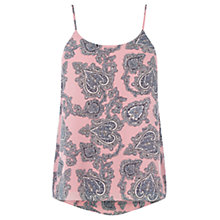 Buy Oasis Paisley Print Cami, Pink/Multi Online at johnlewis.com
