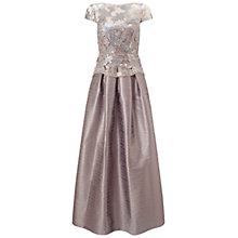 Buy Adrianna Papell Cap Sleeve Gown, Pearl Grey Online at johnlewis.com