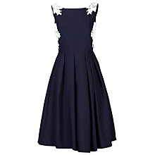Buy Jolie Moi Lace Applique 50s Dress, Navy Online at johnlewis.com