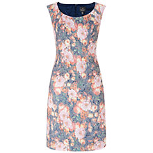 Buy Adrianna Papell Floral Jacquard Dress, Tangerine Online at johnlewis.com