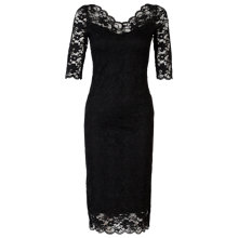 Buy Jolie Moi V-Neck Lace Dress, Black Online at johnlewis.com