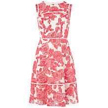 Buy Adrianna Papell Cutout Back Dress, Coral/White Online at johnlewis.com