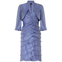 Buy Adrianna Papell Shutter Pleated Dress With Jacket, Steel Blue Online at johnlewis.com