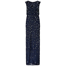 Buy Adrianna Papell Sleeveless Beaded Gown, Twilight Online at johnlewis.com