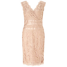 Buy Adrianna Papell Sleeveless Banded Lace Dress, Doe Online at johnlewis.com