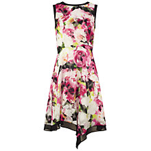 Buy Adrianna Papell Sleeveless Asymmetric Dress, Ivory/Multi Online at johnlewis.com