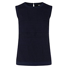 Buy Oasis Gauze Stripe Top, Navy Online at johnlewis.com