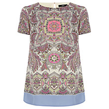 Buy Oasis Pretty Thistle T-Shirt, Multi Online at johnlewis.com