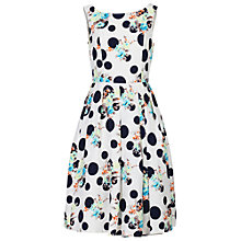 Buy Jolie Moi Retro Polka And Floral Print Dress Online at johnlewis.com