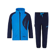 Buy Skogstad Girls' Haram Microfleece Jacket & Trousers, Blue Online at johnlewis.com
