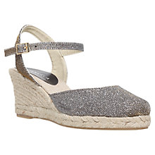 Buy Carvela Sabrina Espadrille Wedges, Bronze Online at johnlewis.com