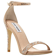 Buy Steve Madden Stecy Ankle Strap Stiletto Sandals, Gold Online at johnlewis.com