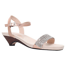 Buy Carvela Sapphire Bejewelled Wedge Sandals, Metallic Online at johnlewis.com