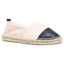 Buy Carvela Scarlett Flat Espadrilles, White/Black Online at johnlewis.com