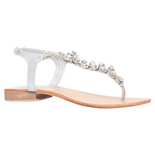 Buy Carvela Bebe Embellished Toe Post Sandals, Silver Online at johnlewis.com