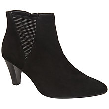 Buy Gabor Shoop Suede Studded Ankle Boots, Black Online at johnlewis.com