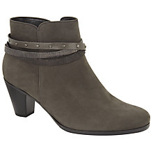 Buy Gabor Solero Nubuck Ankle Boots, Anthracite Online at johnlewis.com