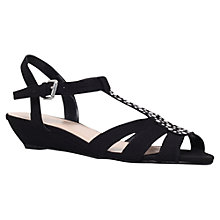Buy Carvela Spain Suede Wedge Sandals, Black Online at johnlewis.com