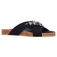 Buy Carvela Beetle Bejewelled Slider Sandals, Black Online at johnlewis.com