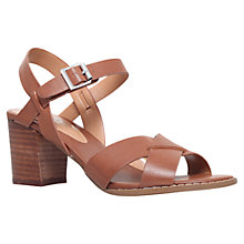 Buy Carvela Sand Block Heeled Sandals Online at johnlewis.com